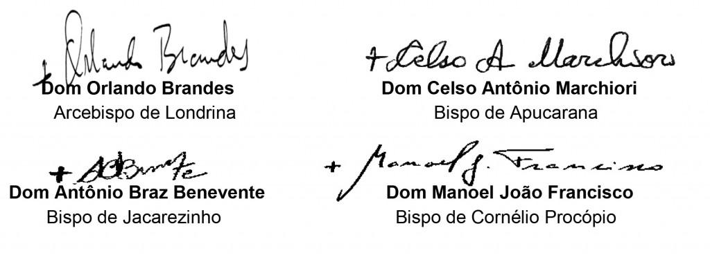 assinatura Bispos