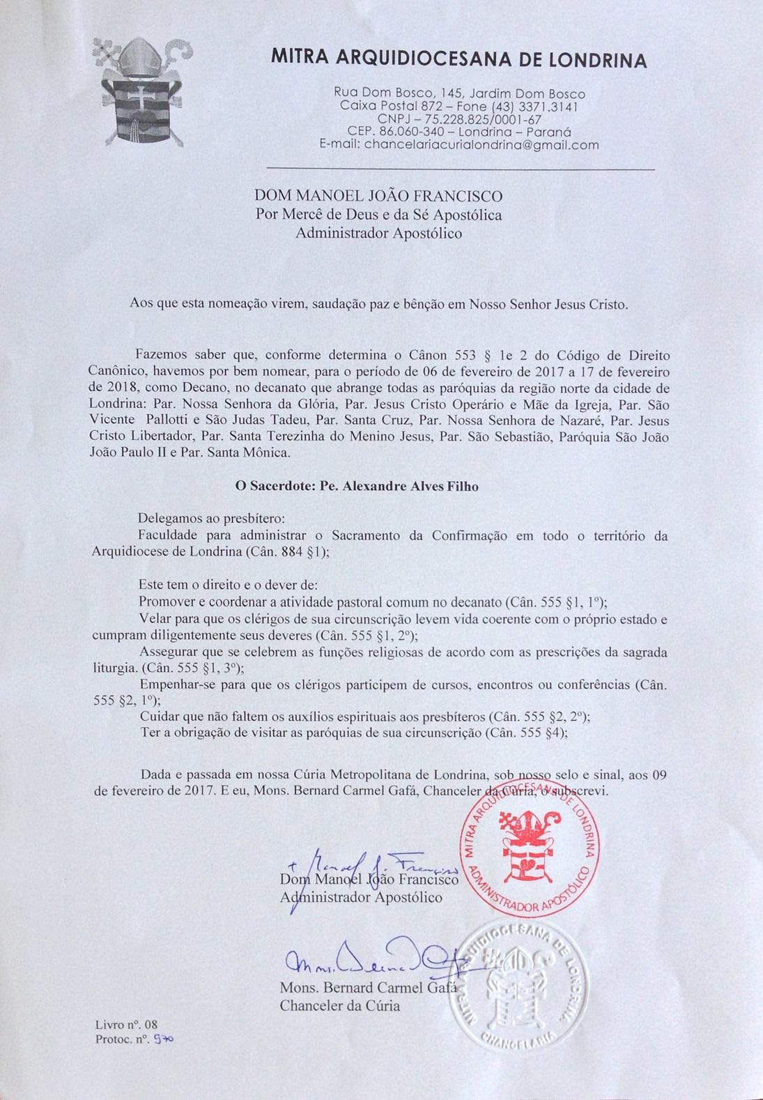 decreto alexandre