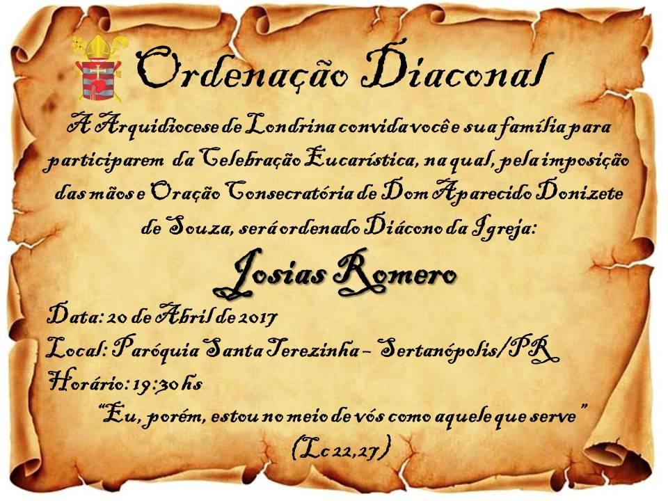 ordenacao diaconal josias