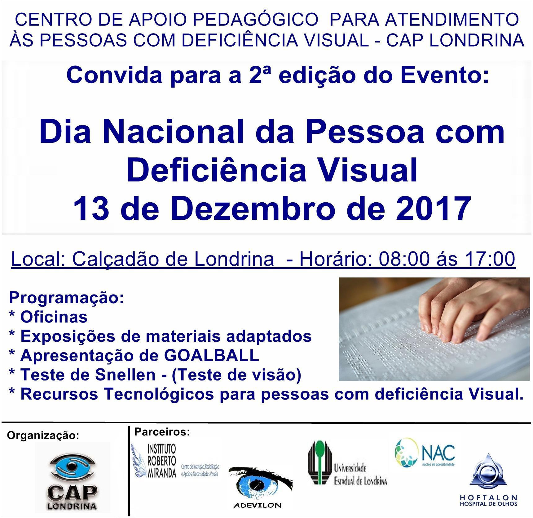 f04d4915d88c3 Convite para o Dia Nacional da Pessoa com Deficiência Visual ...