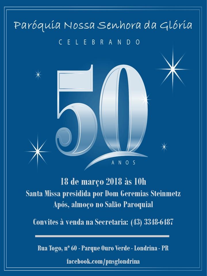 50 anos paroquia n. s. gloria